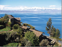 Lake Titicaca, highest navigable lake in the world